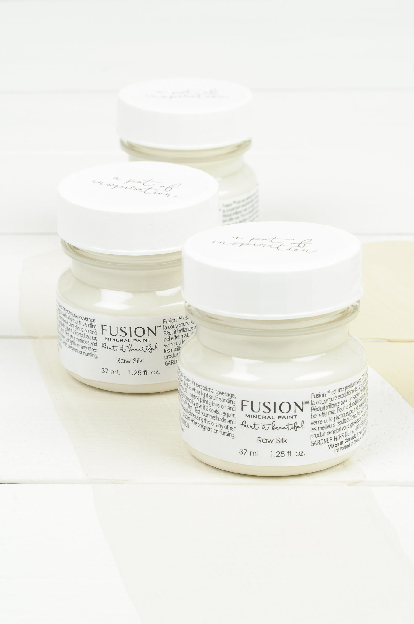 Raw Silk tester fusion mineral paint