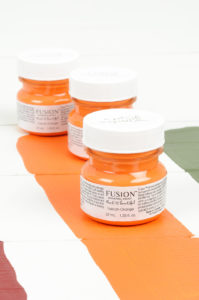Tuscan Orange tester fusion mineral paint